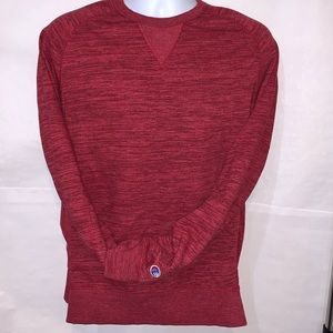Champion French terry red sweatshirt in men's M